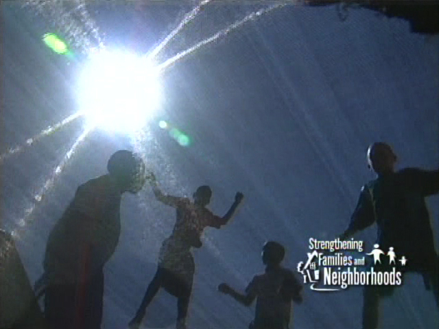 Kids Jumping with sun flare, Adoption